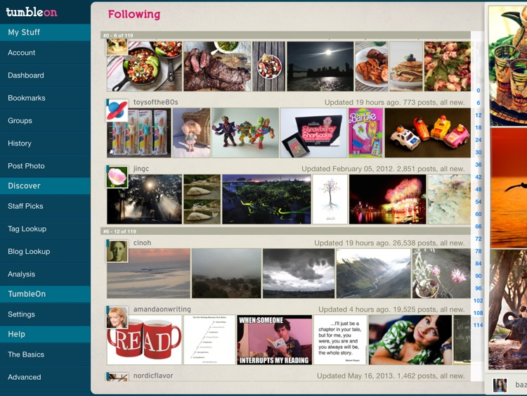 TumbleOn HD - Photo viewer for Tumblr images. screenshot-3