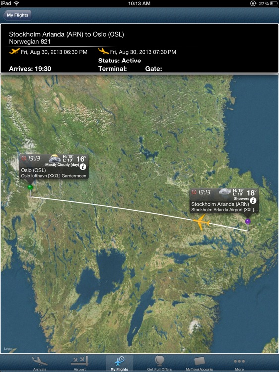 Oslo Airport Pro (OSL) + Flight Tracker HD screenshot-0