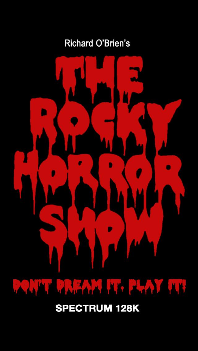 Screenshot from The Rocky Horror Show (ZX Spectrum)