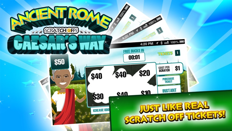 Ancient Rome Lucky Scratch Off Tickets Free screenshot-3