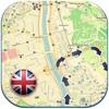 イングランド(イギリス)オフライン道路地図。グレートブリテンフリーガイド (England offline map)