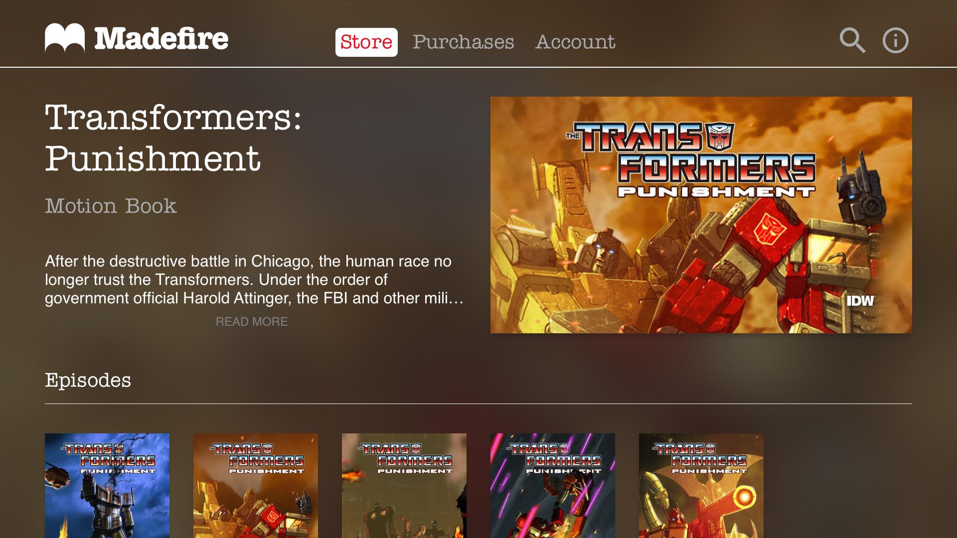 Madefire Comics & Motion Books screenshot 12