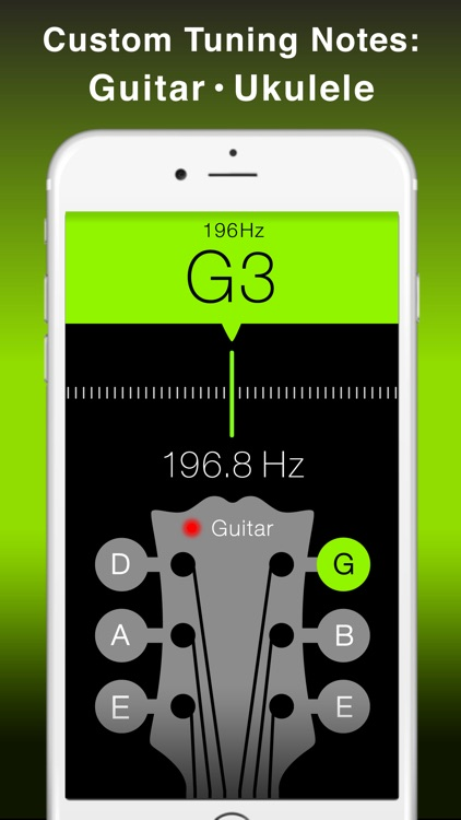 Free Guitar and String Instruments Chromatic Tuner with Tone Generator - Apple Watch Edition screenshot-3