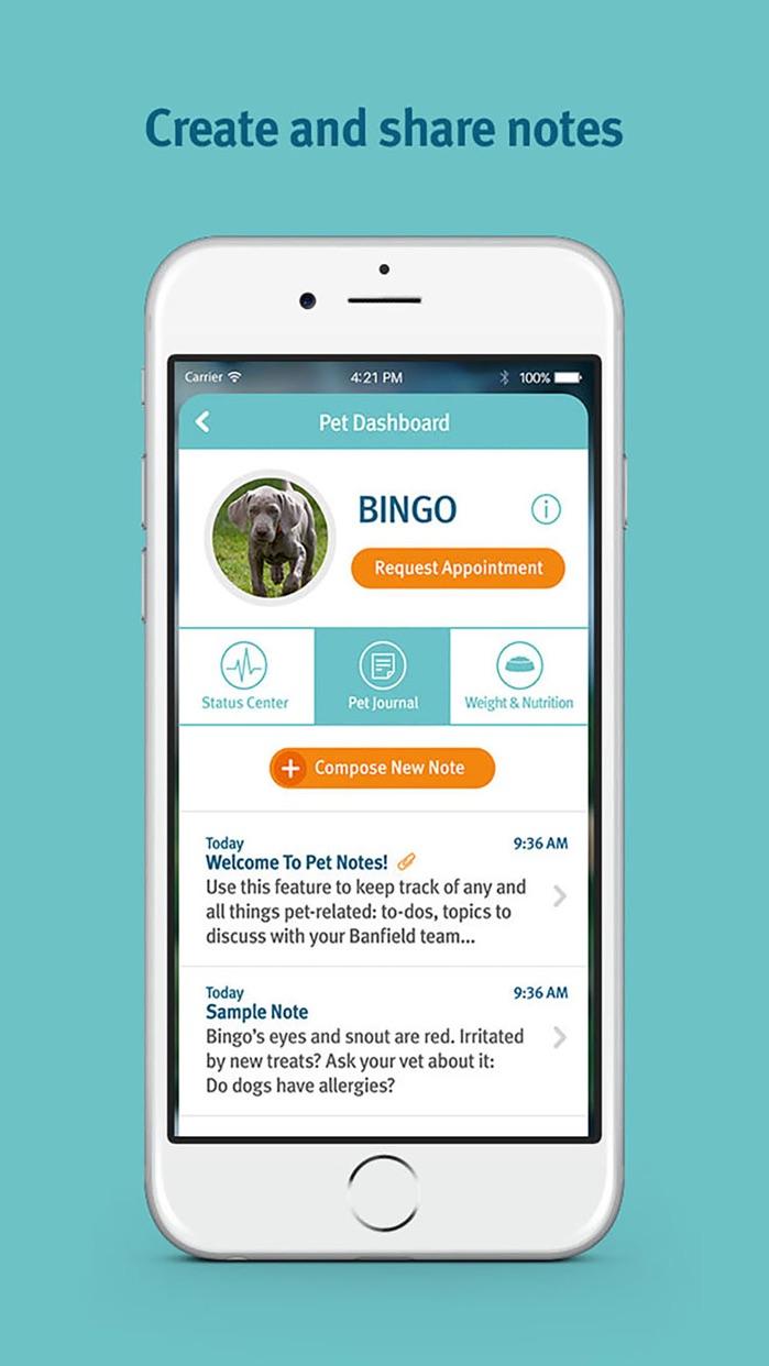 Banfield Pet Health Tracker Screenshot
