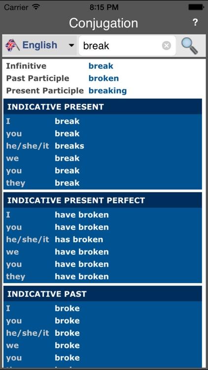 Verb Conjugation (Offline)