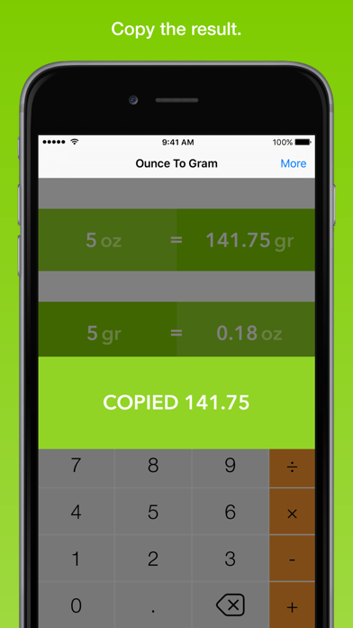 Ounce To Gram, the fastest weight converter screenshot three