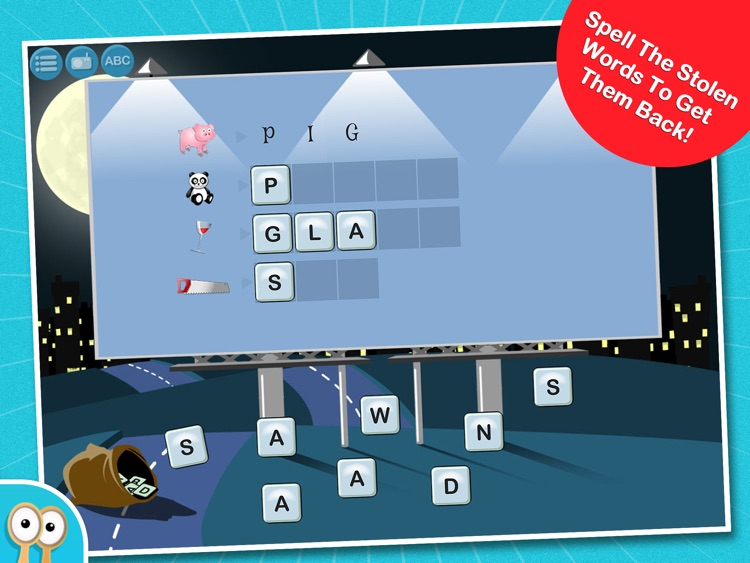 Happi & The Word Thief - A Hidden Word Spelling Game by Happi Papi screenshot-3