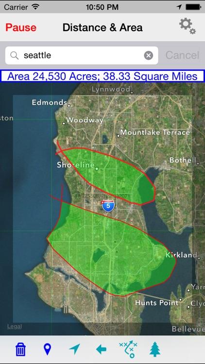 Map Distance & Area