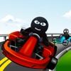 Angry Stick-man Road Karts: Asphalt Go-Kart Racing Free