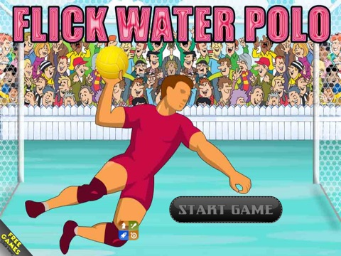 Screenshot #1 for Flick Water Polo Craze - Ultimate Goal Keeping Simulation