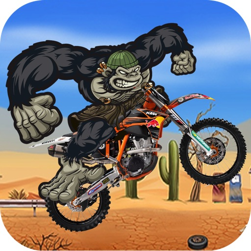 Gorilla Run PRO - Multiplayer Moto Race In a Fun Match