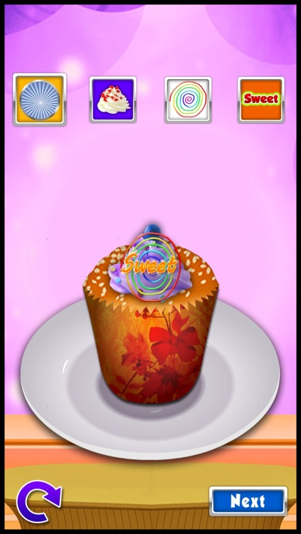Cake Pop Ice Cream Maker - cupcake dessert mania food making cooking games for kids screenshot-4