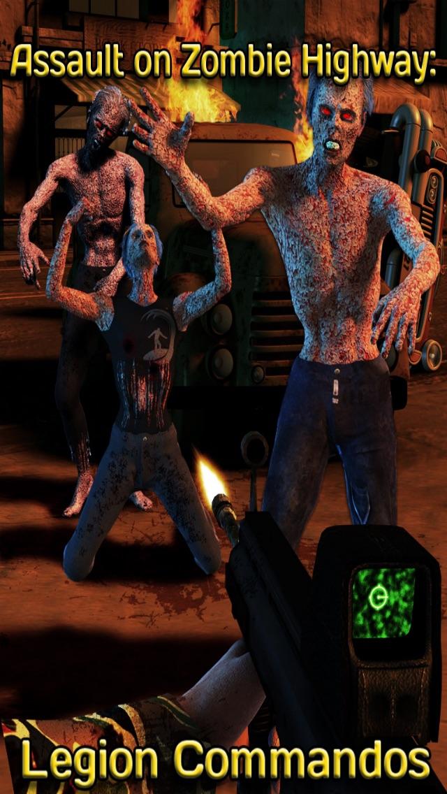 Trigger Shooter Battle Nations vs. Zombies - Dead Hunter World War 2 on Zombie Highway Road HD Lite-0
