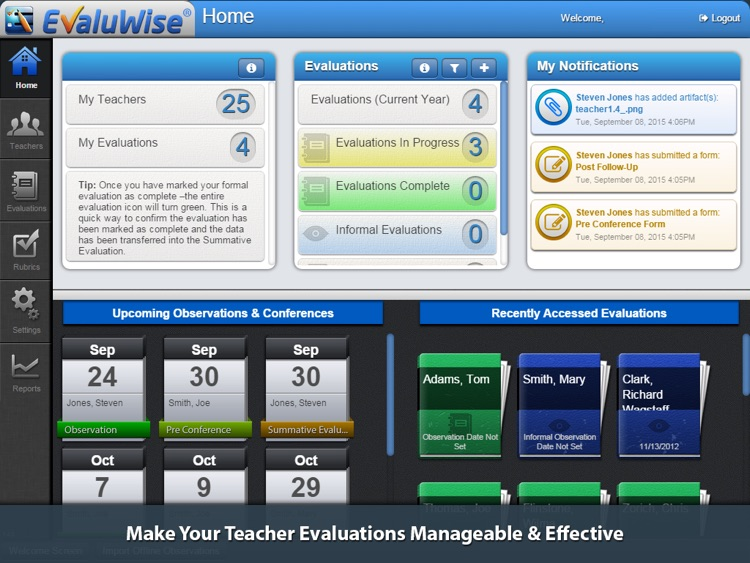 EvaluWise – Teacher Evaluation
