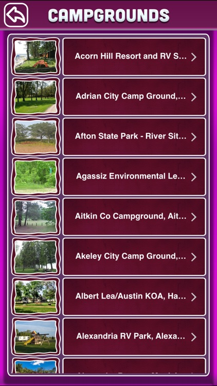 Minnesota Campgrounds Offline Guide