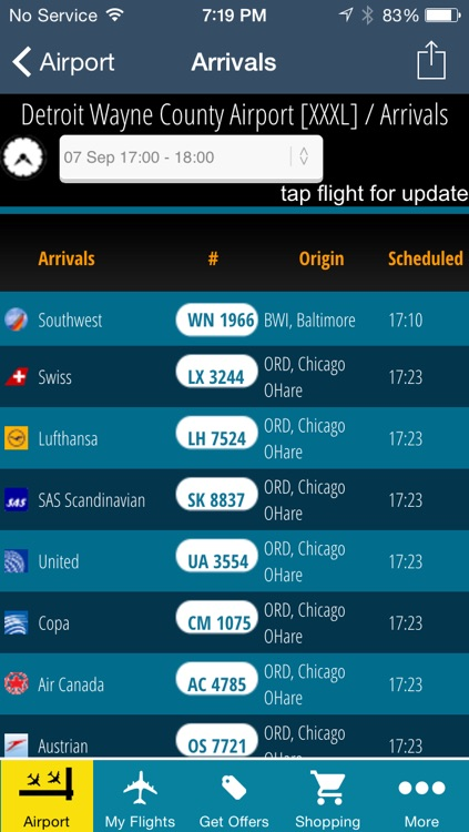 Detroit Airport Pro (DTW) Flight Tracker Wayne County