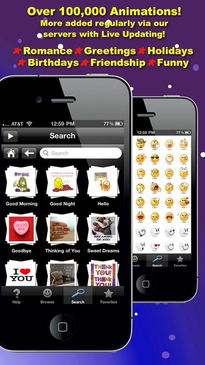 Fun Animations for MMS Text Messaging - 1 MILLION 3D Animated Emoticons