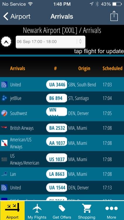 Newark Airport Pro (EWR) Flight Tracker Liberty