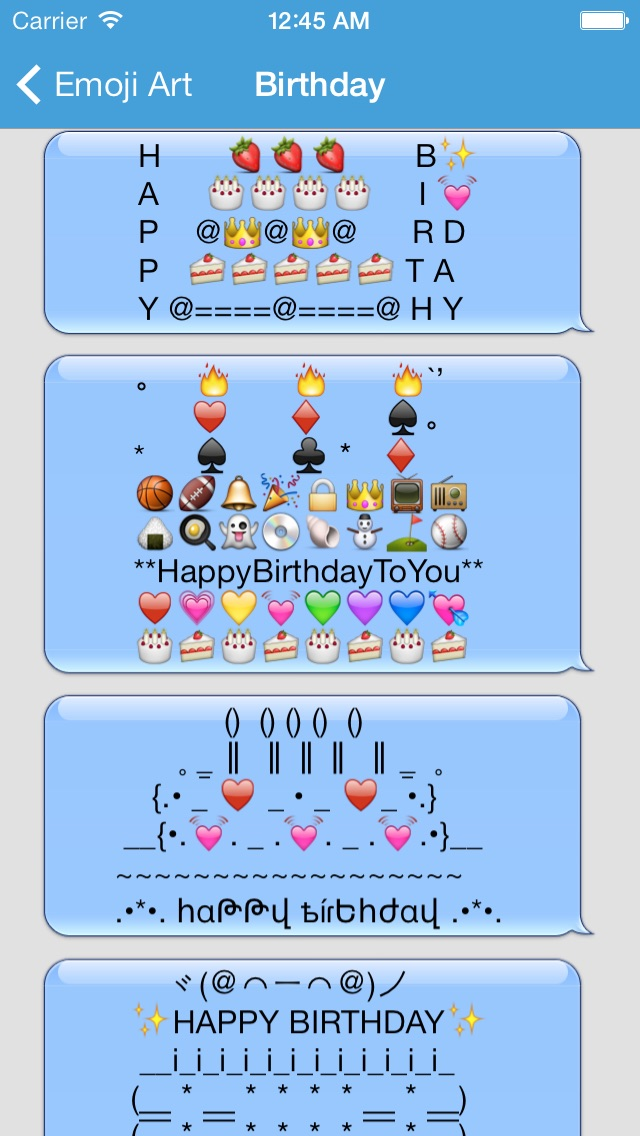birthday emoji text