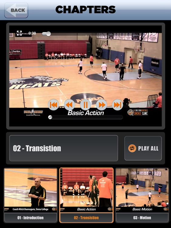 Offense: Transition, Motion & More - With Coach Mitch Buonaguro - Full Court Basketball Training Instruction - XL