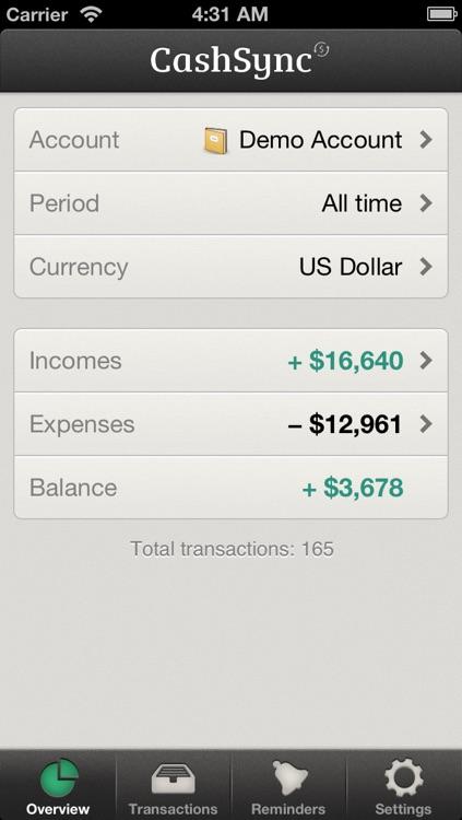 CashSync Classic - Expense and Income screenshot-4