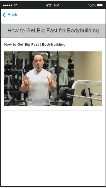 Bodybuilding for Beginners - Learn How to Gain Muscle screenshot-4