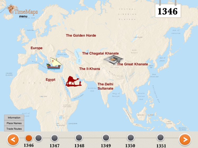 The black death history map by timemaps the black death history map gumiabroncs Images
