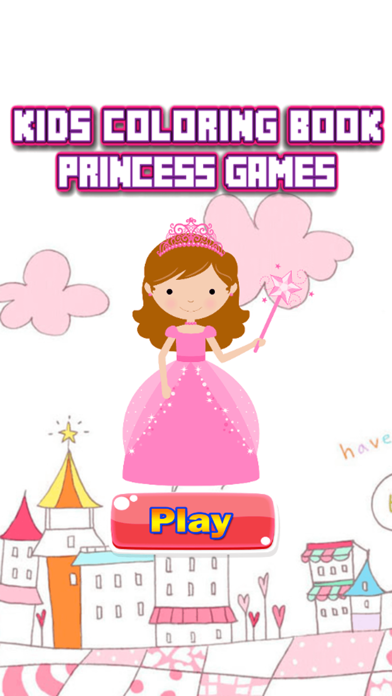 Princess Coloring Book - Alphabets Drawing Pages and Painting Educational Learning skill Games For Kid & Toddler screenshot one
