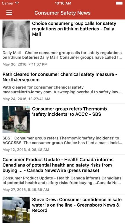 Recall Alert & Safety News Notification screenshot-4
