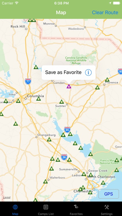 South Carolina – Camping & RV spots