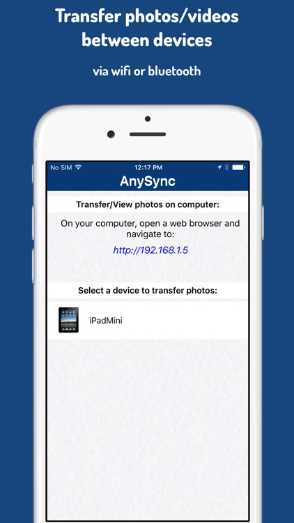 AnySync - Transfer photos/videos wirelessly between devices