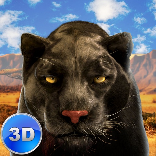 Black Wild Panther Simulator 3D - Be a wild cat in animal simulator! icon