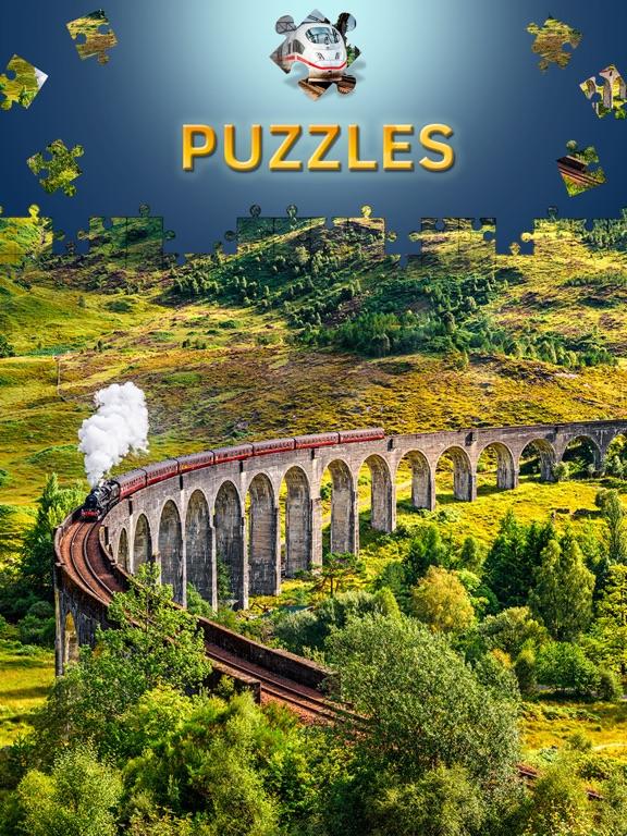 Скачать Пазлы поезда игры головоломки пазлы с уровнями