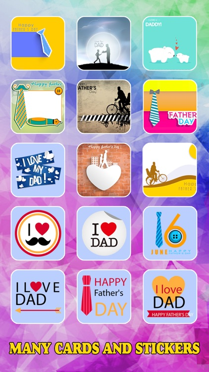 Father's Day Photo Frame.s, Sticker.s & Greeting Card.s Make.r HD screenshot-3