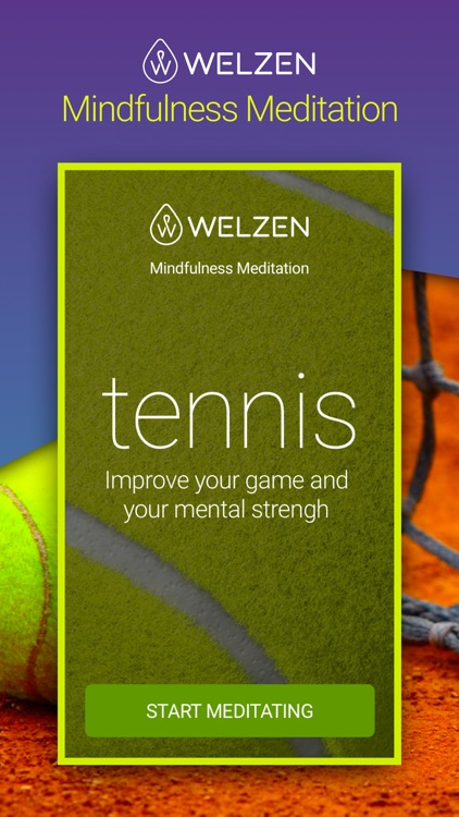 Welzen Tennis - Guided meditation app for pros screenshot-0
