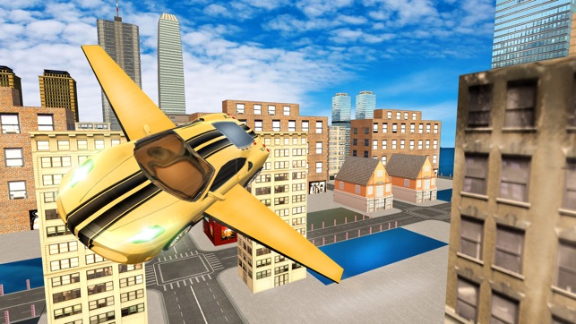 Futuristic Flying Car Drive 3d Extreme Car Driving Simulator With