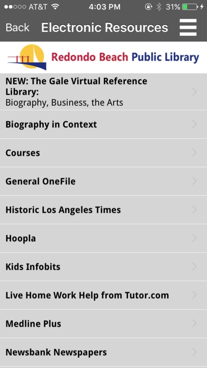 Redondo Beach Public Library Mobile screenshot-3