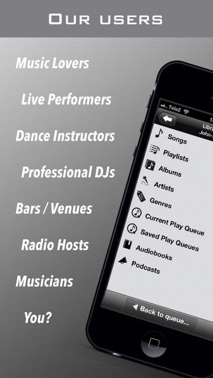 PlayMyQ HD - Music Player • Remote • Jukebox screenshot-4