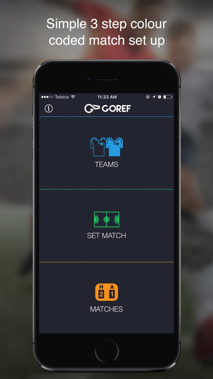 GOREF – Football Referee App for Apple Watch. screenshot-0