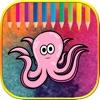Cute sea animals colorin books learning for preschool