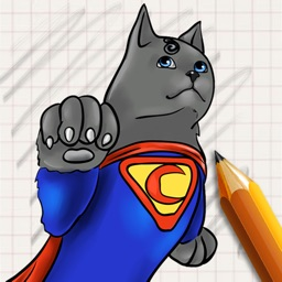 Let's Draw Cats Superheroes
