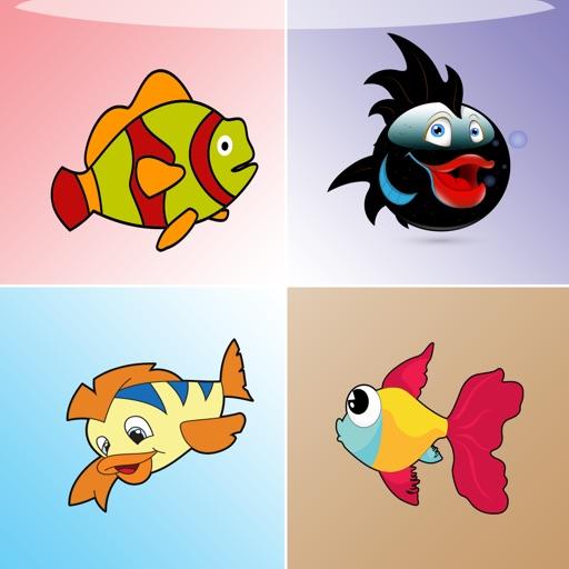 Fish Matching Game - toddler puzzle ocean