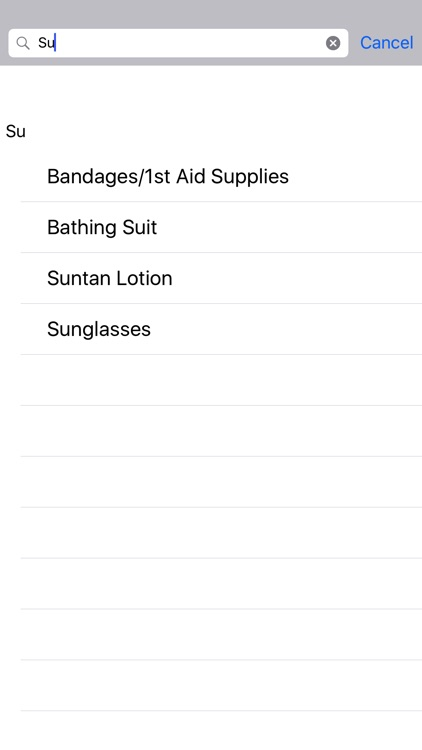 Vacation Packing List screenshot-3