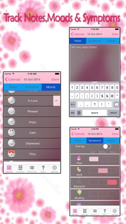 Menstrual Period Tracker - Fertility & Ovulation Tracker and Period Calendar screenshot-4