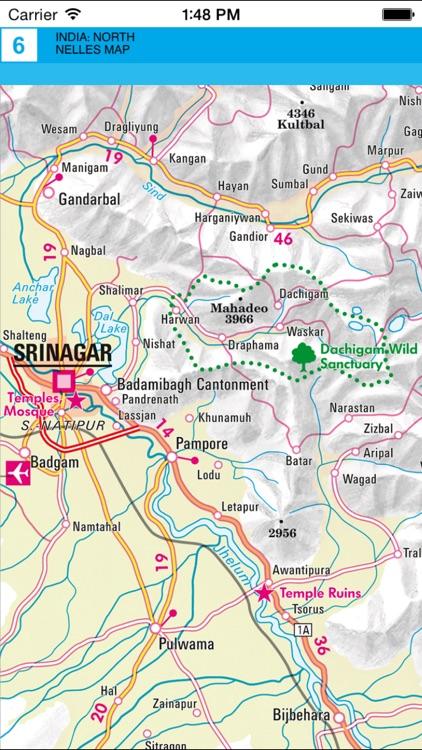 India: North. Tourist map. screenshot-3