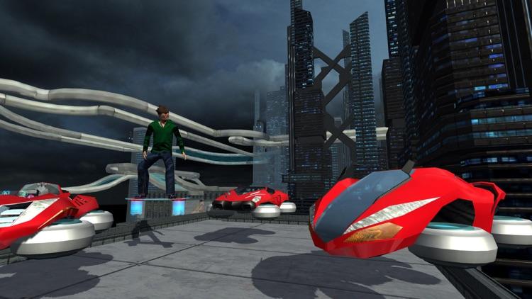 Hover Car Parking Simulator - Flying Hoverboard Car City Racing Game FREE screenshot-3