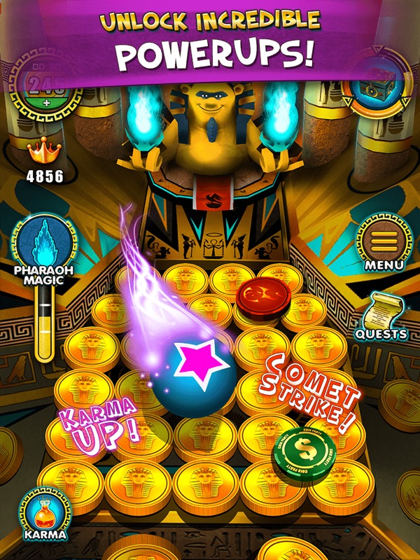 Pharaoh's Party: Coin Pusher - Online Game Hack and Cheat