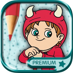 Educational Coloring book - Connect the dots then paint the drawings with magic marker Premium