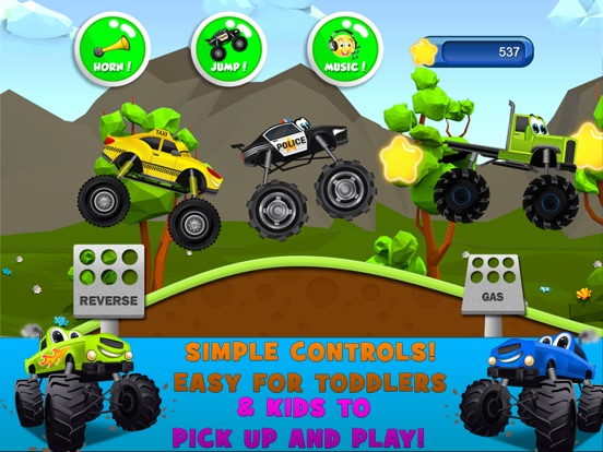 Игра Monster Trucks Kids Racing Game
