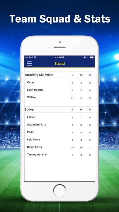 Live Scores & News for Chelsea F C  App iOS Application Version 1 1